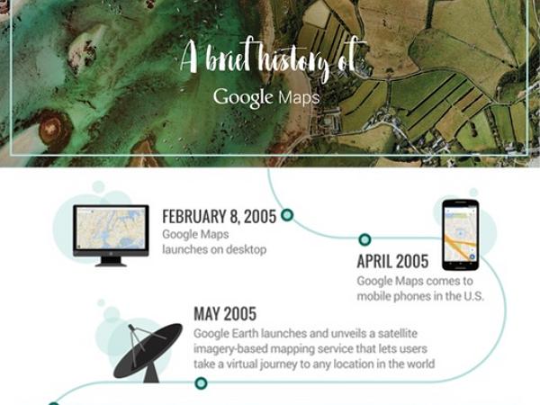 Google地圖10週年了!一張圖看它曾經做過的那些瘋狂事