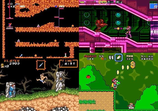 鑽研懷舊遊戲:銀河戰士/超魔界村R/超級瑪利世界/超級瑪利兄弟2/地底探險