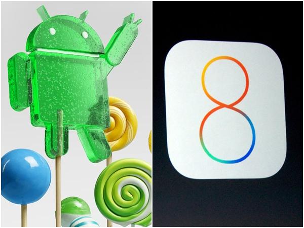 Android 5.0 Lollipop 系統穩定度微幅領先  iOS 8