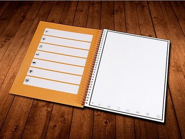 這本手寫筆記本只要微波就可以重新使用,還可以上傳資料到雲端