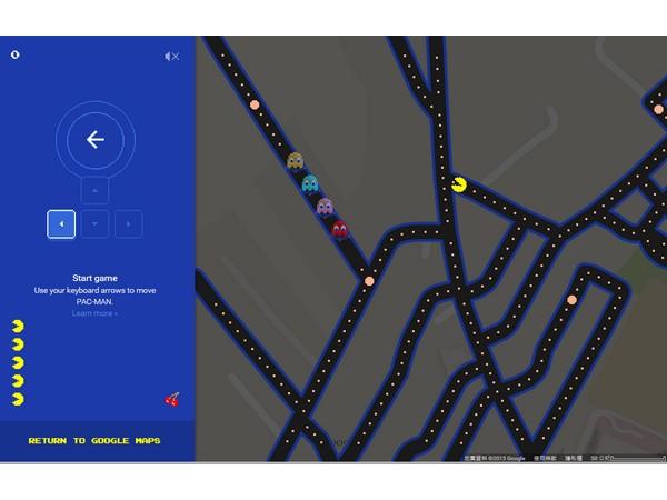 Google愚人節的驚喜來了,現在你可以在地圖上玩小精靈