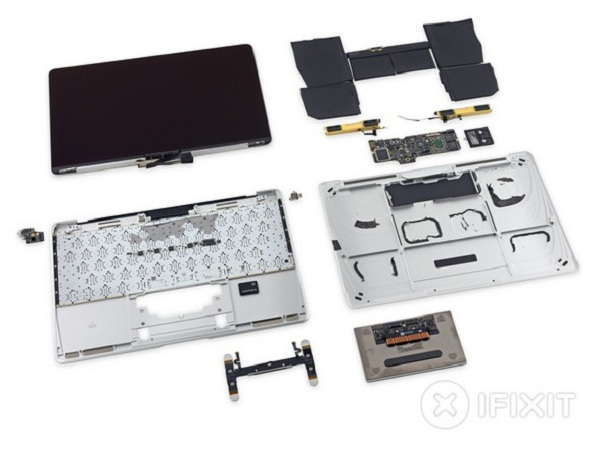 新 Macbook 拆解分析:電池全靠黏著劑固定,維修難度極高