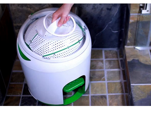 不插電的滾筒式洗衣機,腳踏清洗省錢、省水還健身