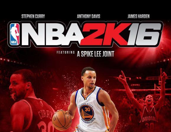 《NBA 2K16》由Stephen Curry、James Harden和Anthony Davis擔任封面球星,導演Spike Lee編寫故事情節
