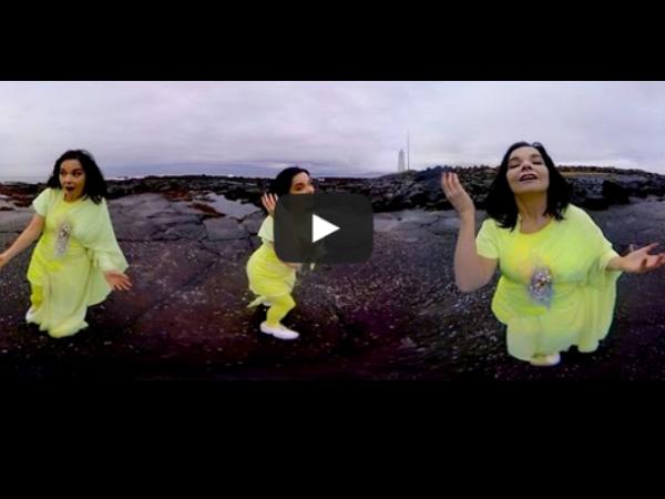 Bjork的這支MV,讓你在YouTube上能以360度不同角度來觀賞