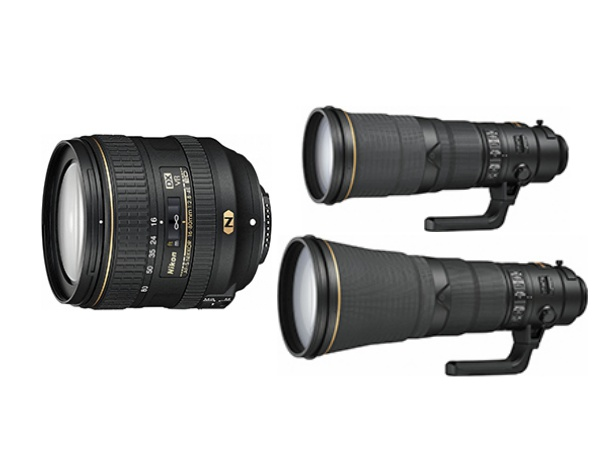 Nikon 推出 16-80mm f/2.8-4.0 標準變焦鏡,並發佈兩款 FX 望遠定焦長砲 500mm f/4、600mm f/4