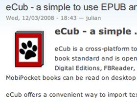自製ePub電子書(中):用eCub建立ePub格式電子書