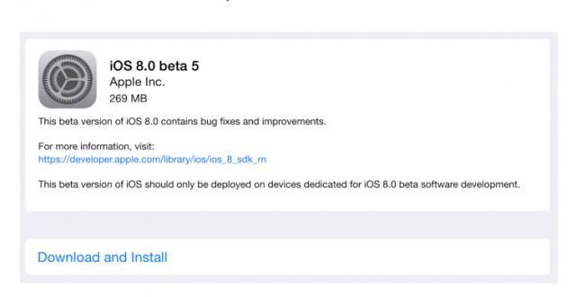 蘋果釋出iOS 8 beta 5版本,Health功能增強與介面微調
