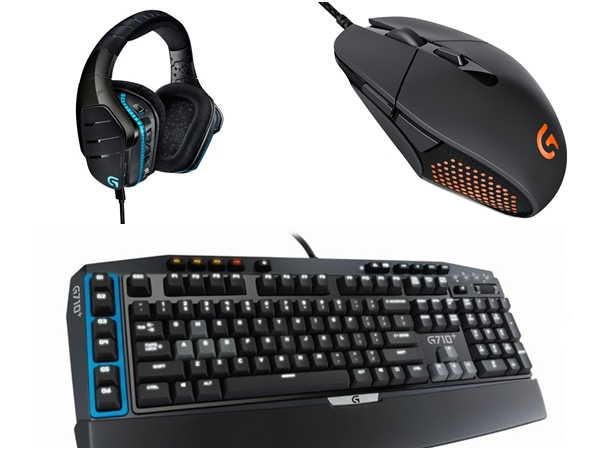 羅技 G 系列遊戲耳機麥克風 G633、滑鼠 G303、青軸鍵盤 G710+ 登台