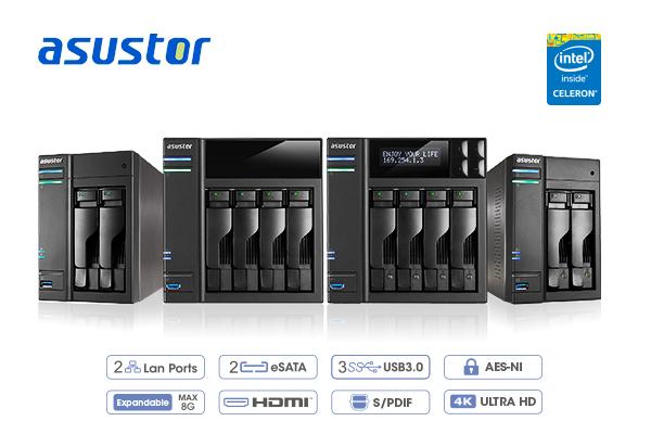 華芸科技搶先推出 Intel Braswell 平台 ASUSTOR 62 及61 桌上型 NAS