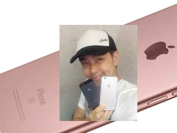 雖然遲了點,林志穎還是拿到了玫瑰金iPhone 6s
