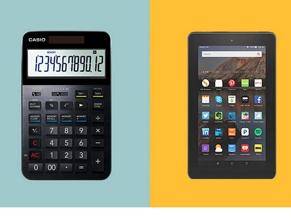 1,700元的Amazon平板和7,200元的Casio計算機,你選哪一個?