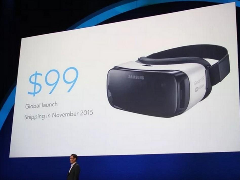 三星發表新一代虛擬實境眼鏡 Gear VR,定價 99 美元