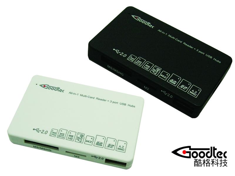 酷格推出多功能讀卡機 + 3port USB Hub