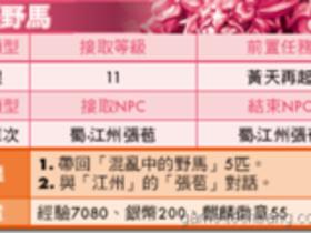 【火鳳三國】【火鳳三國】任務大全-蜀國LV11~20