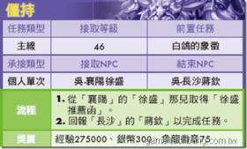 【火鳳三國】【火鳳三國】任務大全-蜀國LV46~50