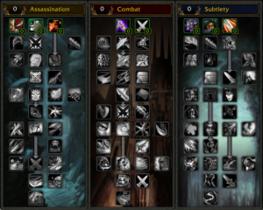 【魔獸世界(舊)】【4.0】盜賊天賦樹列表