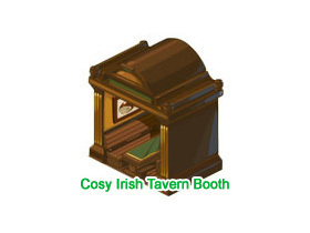 【Restaurant City】Cozy Irish Tavern Booth抽獎串