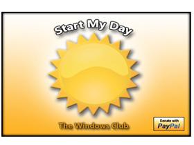 Start My Day!指定的程式、音樂全部一起開