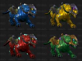 【魔獸世界】【5.0】珠寶學新坐騎:四色寶石豹
