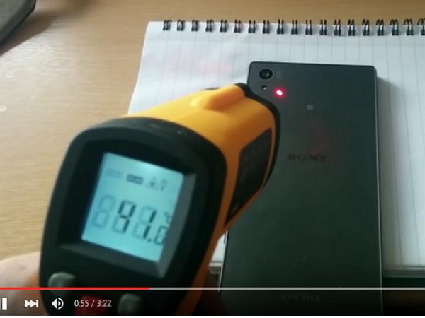溫度計實測!網友發現 Sony Xperia Z5 就算錄製非4K影片也會過熱
