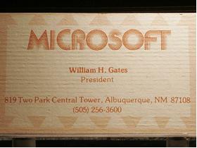 我是 比爾蓋茲,這是我的名片