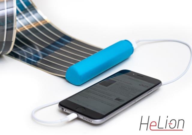 搭載可撓式太陽能電池,HeLi-on行動電源能量無止盡