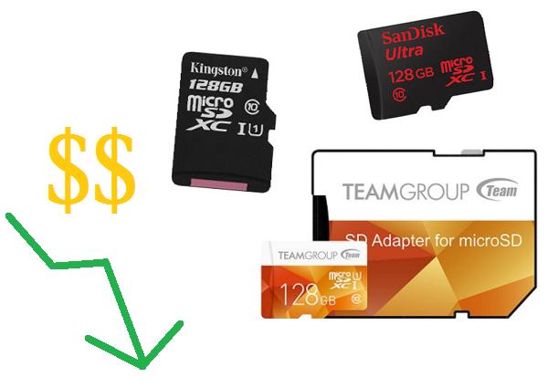 記憶卡價格一再往下探,2000 元有找 128GB 買回家