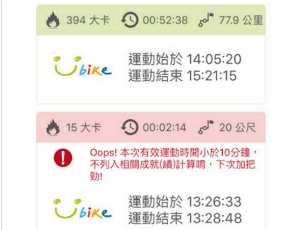 裝上這個App,結合Youbike幫你記錄騎乘時間、距離、消耗卡路里
