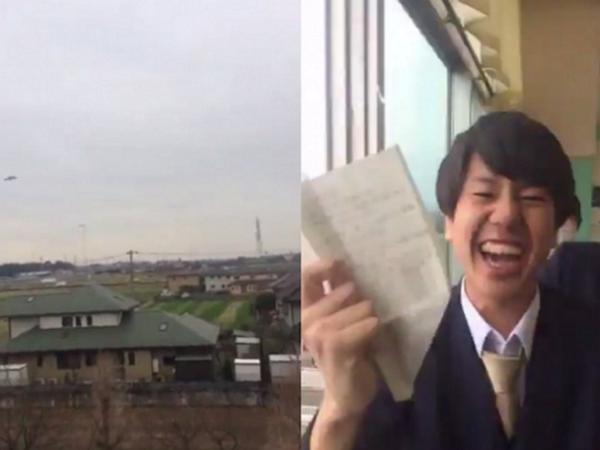 這個日本高中生丟出的紙飛機,引起了全世界的歡樂