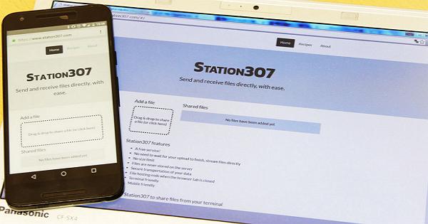 免註冊、免費且無檔案大小限制,Station 307讓手機、PC透過網頁就能互傳檔案