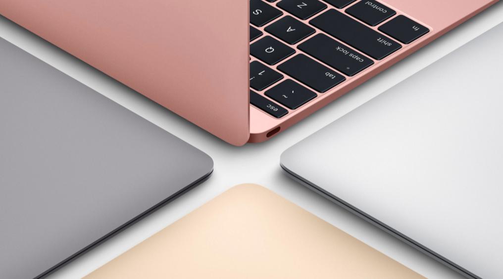 加入玫瑰金新色,Macbook 改版、處理器小升級