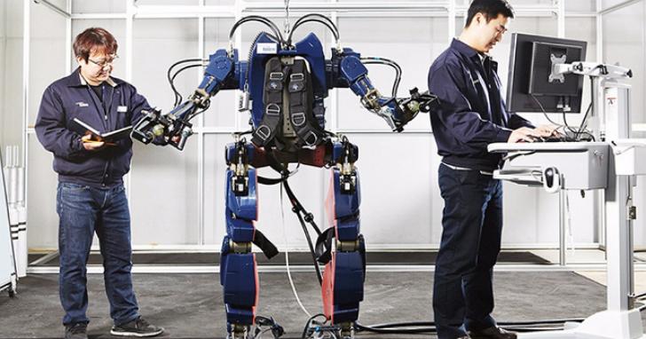 韓國現代集團秀出他們在工廠使用的外骨骼動力服