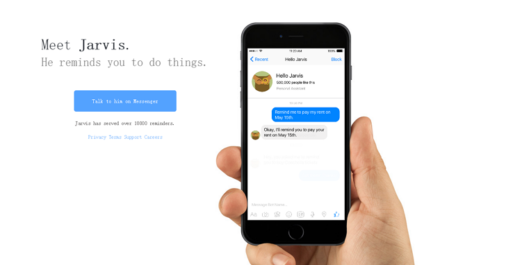 在你的臉書上加入Jarvis,一個會提醒你該做什麼事的聊天機器人