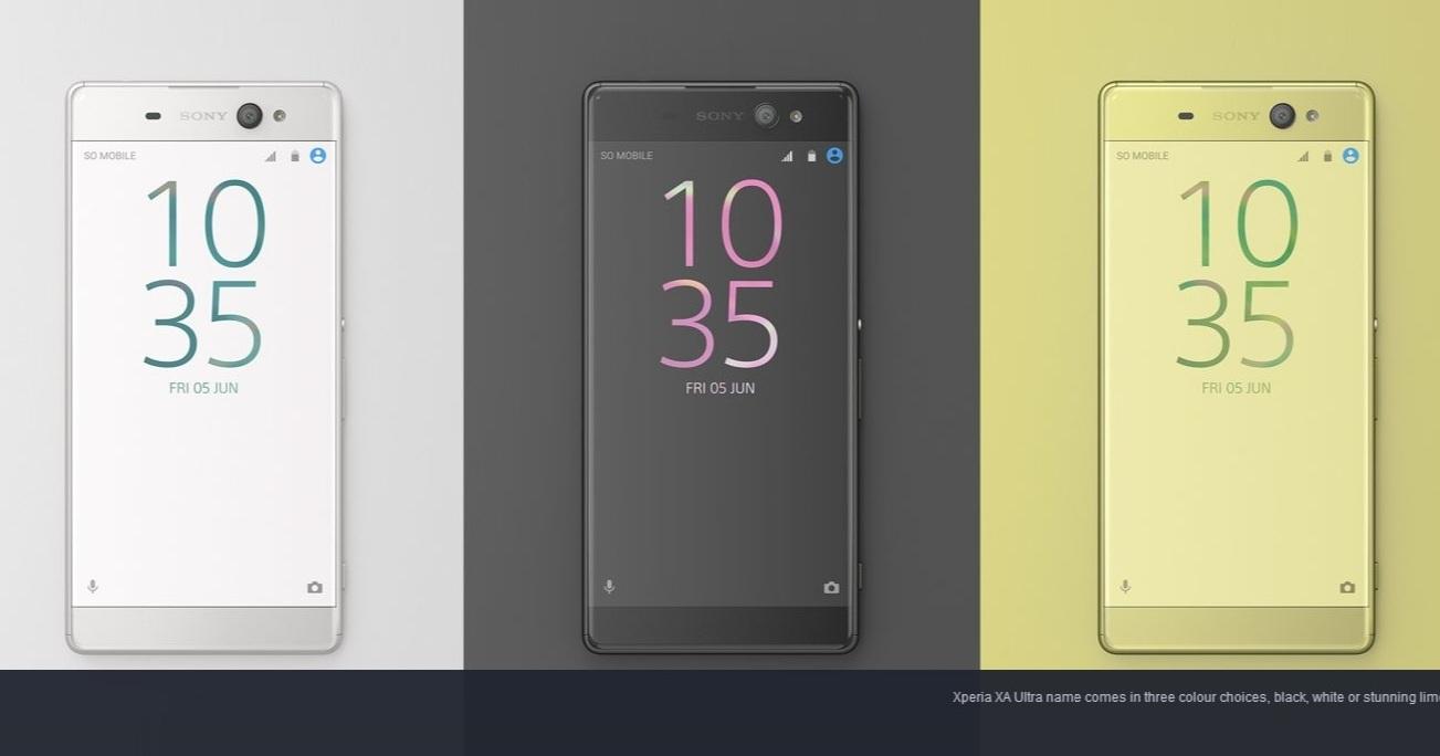 Sony XA Ultra 突發表!6 吋大螢幕、1600萬畫素 OIS 前鏡頭、預計七月上市