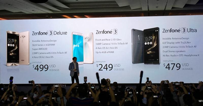 驚人的低價!華碩發表 Zenfone 3 Deluxe、Zenfone 3、Zenfone 3 Ultra