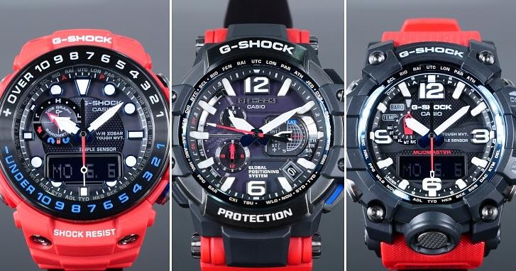 夏日紅潮現身 CASIO G-SHOCK MASTER OF G SERIES ─ RESCUE RED 系列錶款