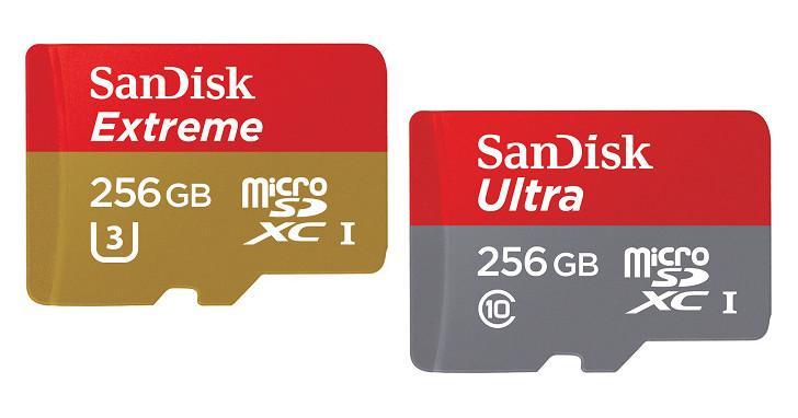 滿足超高畫質錄影需求,SanDisk 新推出兩款 256GB 容量 microSDXC 記憶卡
