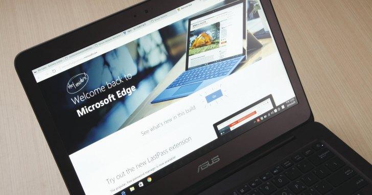 【Windows 10 年度重大更新新功能預覽】Edge瀏覽器支援延伸模組,效能提升