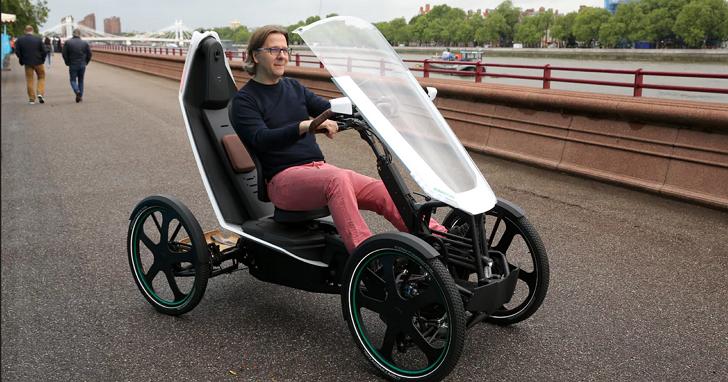 Bio-Hybrid:既是人力車、電動車,還是充飽電可跑一百公里的四輪車