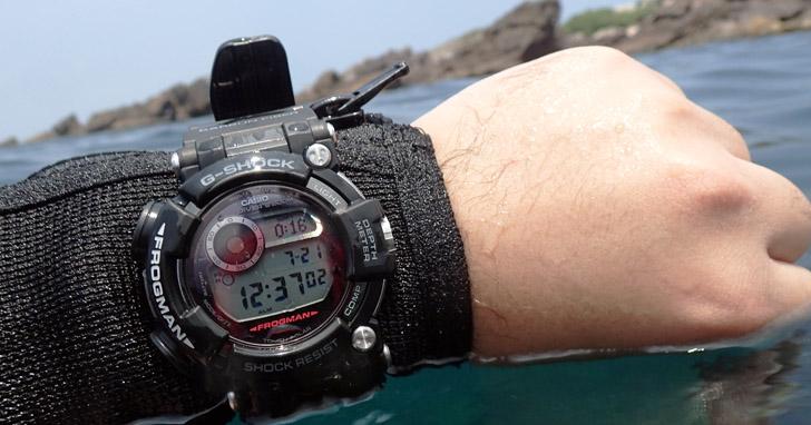CASIO G-SHOCK FROGMAN GWF-D1000 頂級專業潛水錶,潛水之王實測報告!
