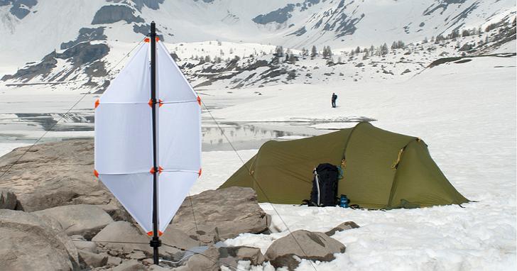 登山露營良伴!自備微型風力發電機去登山