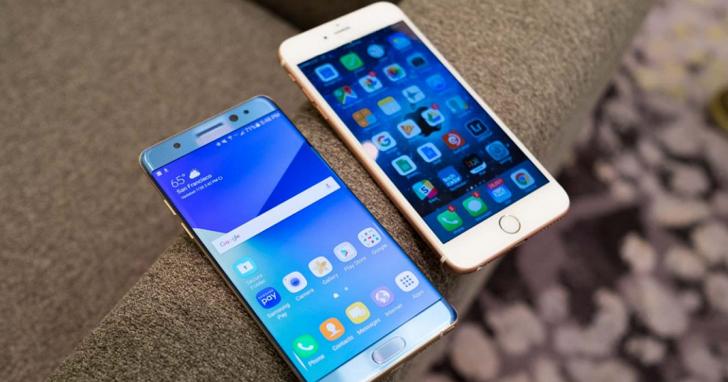 2016年第二季全球手機銷售數量,三星位居榜首