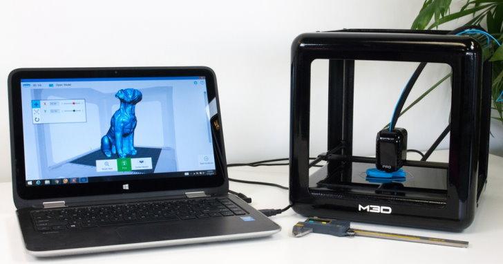 入門級M3D Pro 3D印表機,採用封閉路控制系統提升列印精確度