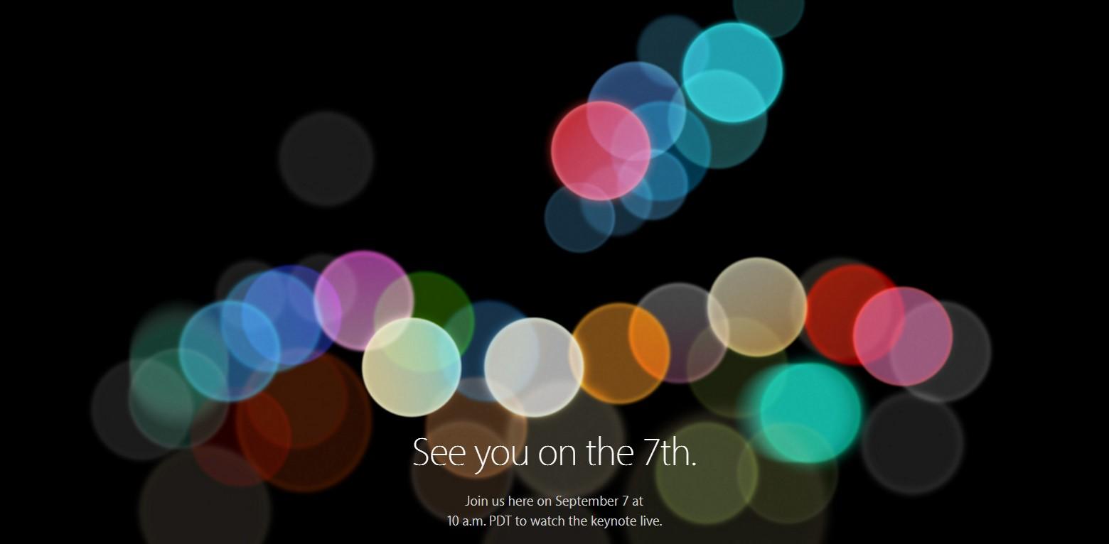 Apple 發表會 9/7 舉行,iPhone 7、Apple Watch 2 要來了?