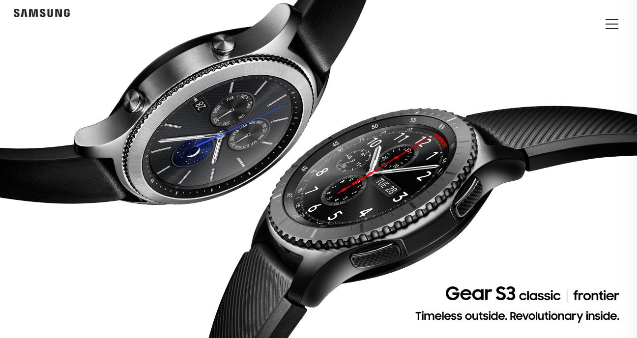 圓型智慧錶再添一款,Samsung 推 Gear S3 防水手錶