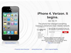 CDMA版 iPhone 4 Verizon 開賣