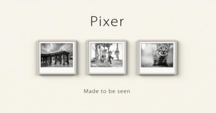 不需插電的數位相框「Pixer」,充電待機長達半年至一年