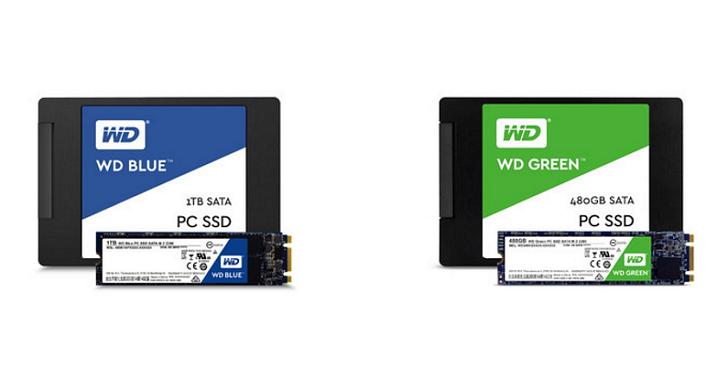 WD 進軍個人固態硬碟市場,Blue、Green 雙色標一同上陣