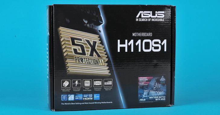 Asus H110S1 主機板實測,Mini-STX 規格可玩性更高